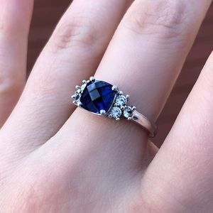 Jewelry - ** 2 for $90 **Sapphire and silver ring